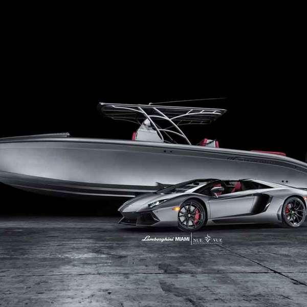 2014 Lamborghini Aventador Interior: Combo: Lamborghini Aventador Y Speedboat De Lujo Por $ 1M