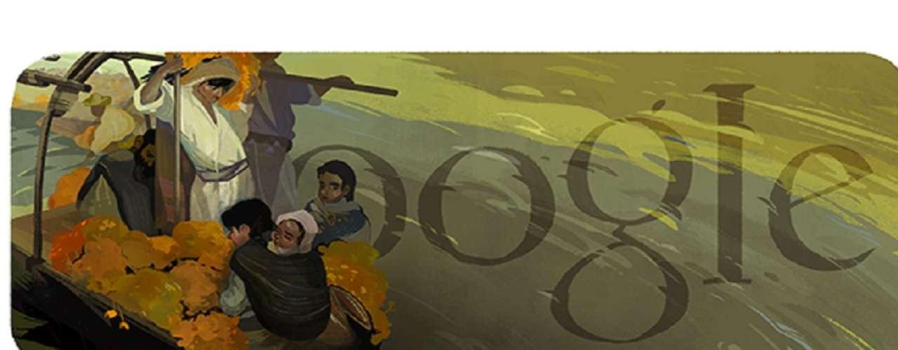 Este 9 de julio Google México recuerda al pintor mexicano Saturnino Herrán Guinchard con un doodle inspirado en una de sus obras más famosas, La Ofrenda de 1913.