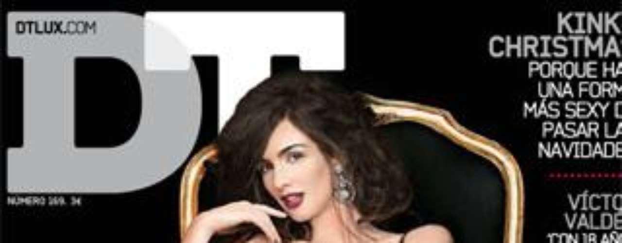 A pocos meses de ser madre, la sevillana Paz Vega posaba así de estupenda para la revista 'DT' del mes de diciembre.