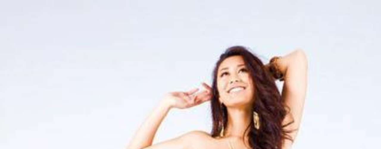 Se llama María Kamiyama, tiene 23 años de edad y mide 1, 68 metros.