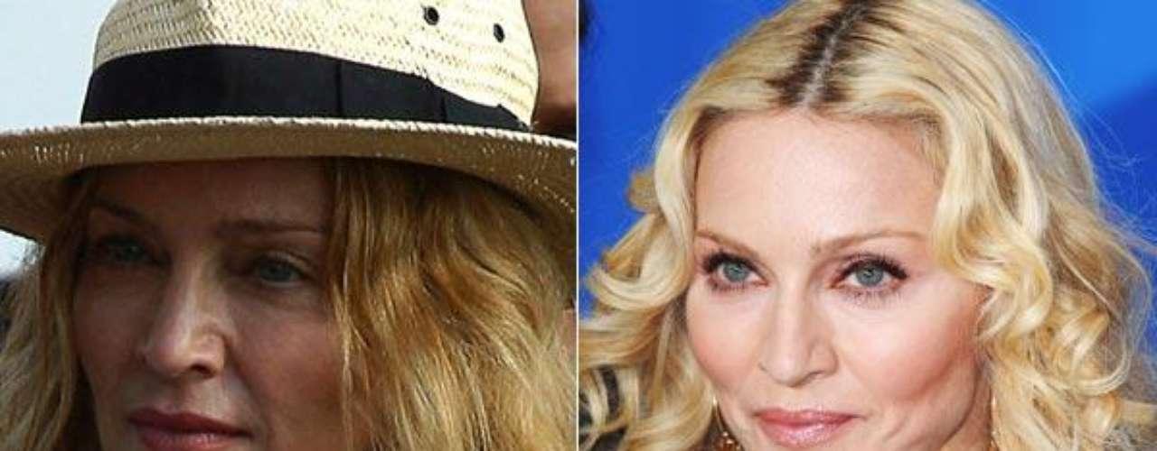 Al parecer, la divina reina del pop, Madonna, ya no está para andar olvidando sombras y lápiz de labio en casa. Las fotos de Madonna sin Photoshop ya son un clásico de internet