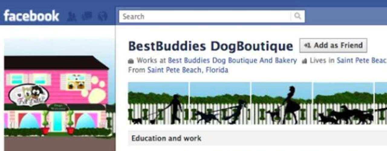 Esta empresa con sede en Florida, utiliza un perfil de Facebook como su negocio de página.