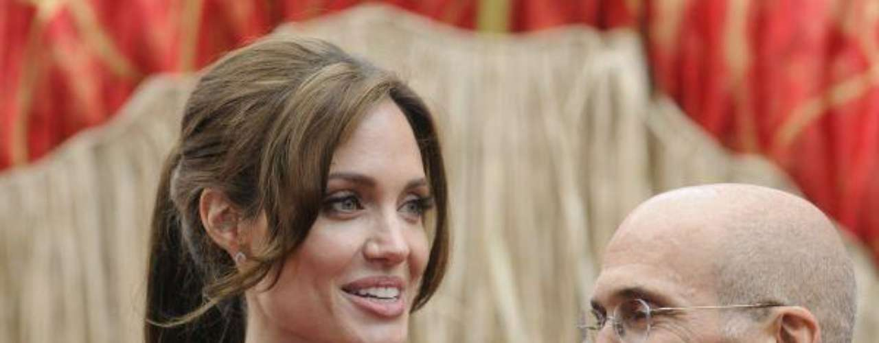 Angelina Jolie  and Jeffrey Katzenberg attend the premiere of the film \