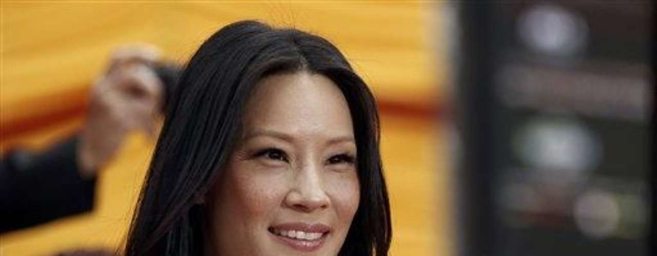 "Cast member Lucy Liu arrives at the premiere of ""Kung Fu Panda 2"" in Los Angeles, Sunday, May 22, 2011.  The film opens May 26, 2011. (AP Photo/Matt Sayles)"