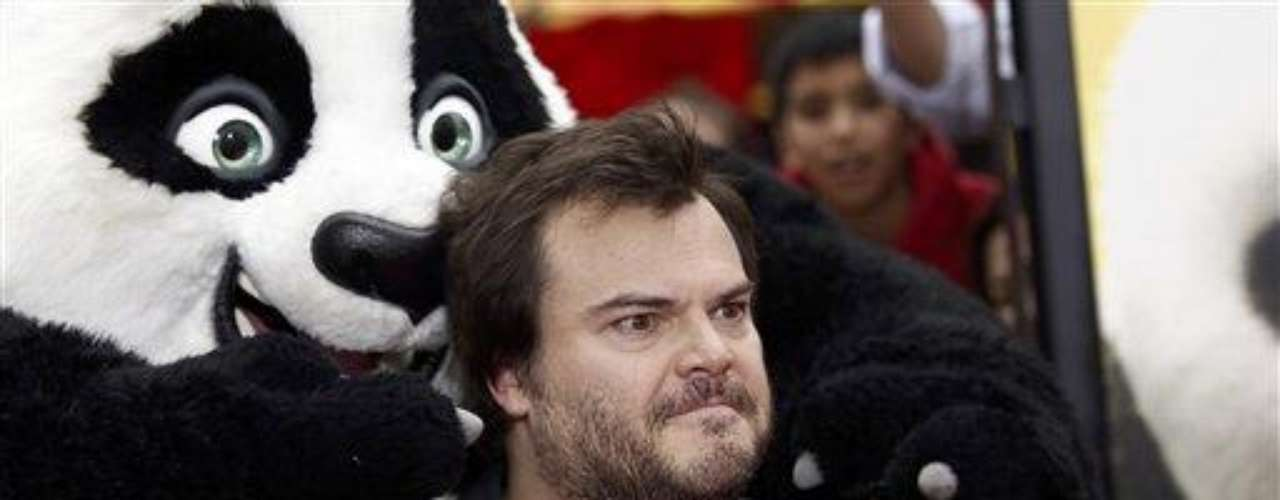 "Cast member Jack Black arrives at the premiere of ""Kung Fu Panda 2"" in Los Angeles, Sunday, May 22, 2011.  The film opens May 26, 2011. (AP Photo/Matt Sayles)"