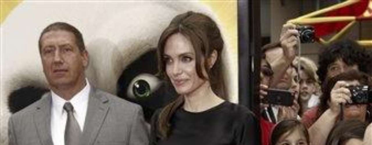 "Cast member Angelina Jolie arrives at the premiere of ""Kung Fu Panda 2"" in Los Angeles, Sunday, May 22, 2011.  The film opens May 26, 2011. (AP Photo/Matt Sayles)"