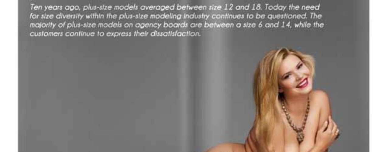 """El propósito de esta revista es mostrar un problema del mundo de la moda contra el que no se han tomado medidas. """"La mayoría de modelos de pasarela cumplen con criterios de masa corporal física para la anorexia. Hace diez años, las modelos usaban tallas promedio de 12 y 18. Hoy en día la necesidad de diversidad en el tamaño de la industria del modelaje tiene tallas grandes que siguen siendo cuestionadas\"""