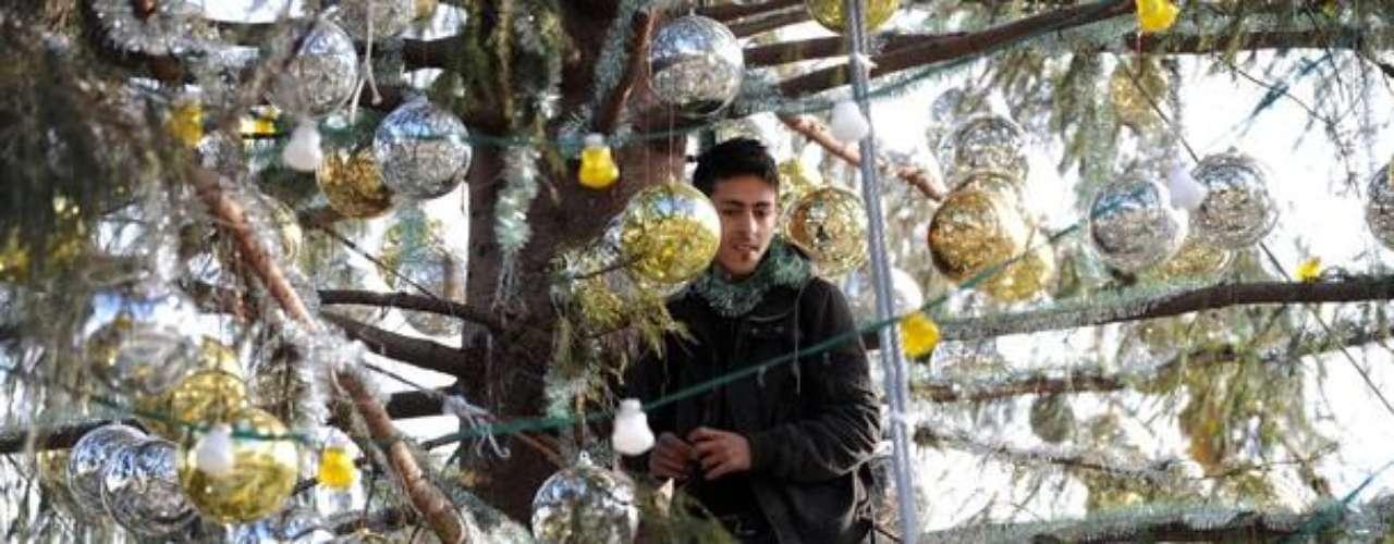Los indignados levantaron varias tiendas de campaña y uno de ellos se subió al abeto de Navidad colocado en el recinto, lo que llevó a la policía italiana a cargar y detener a tres de los manifestantes.