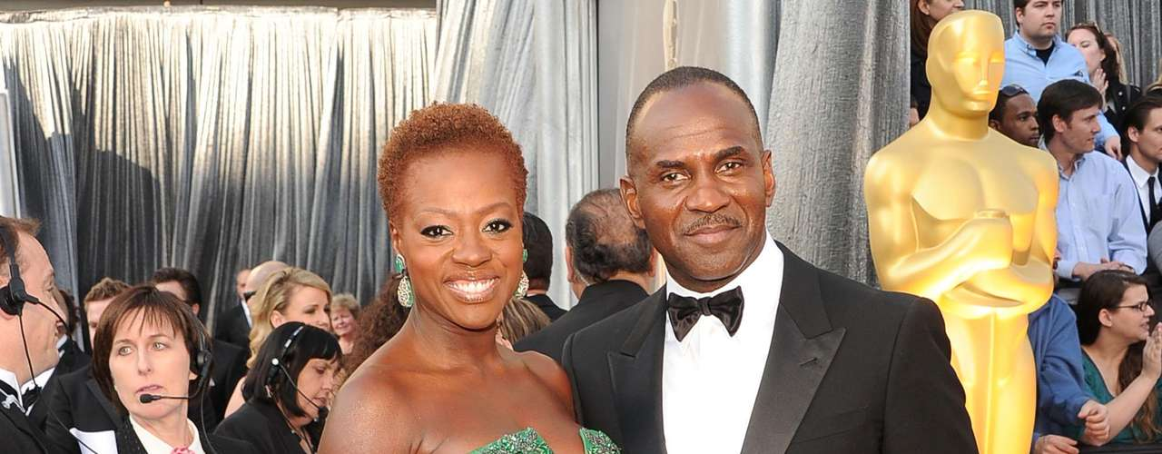 La actriz Viola Davis y el  actor Julius Tennon