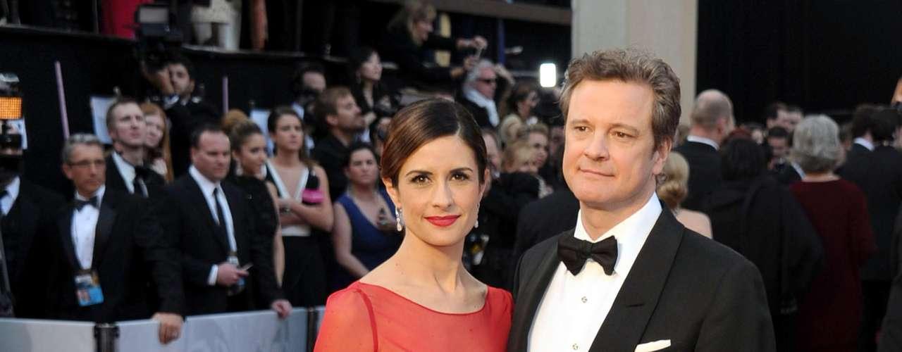 Actor Colin Firth y Livia Giuggioli