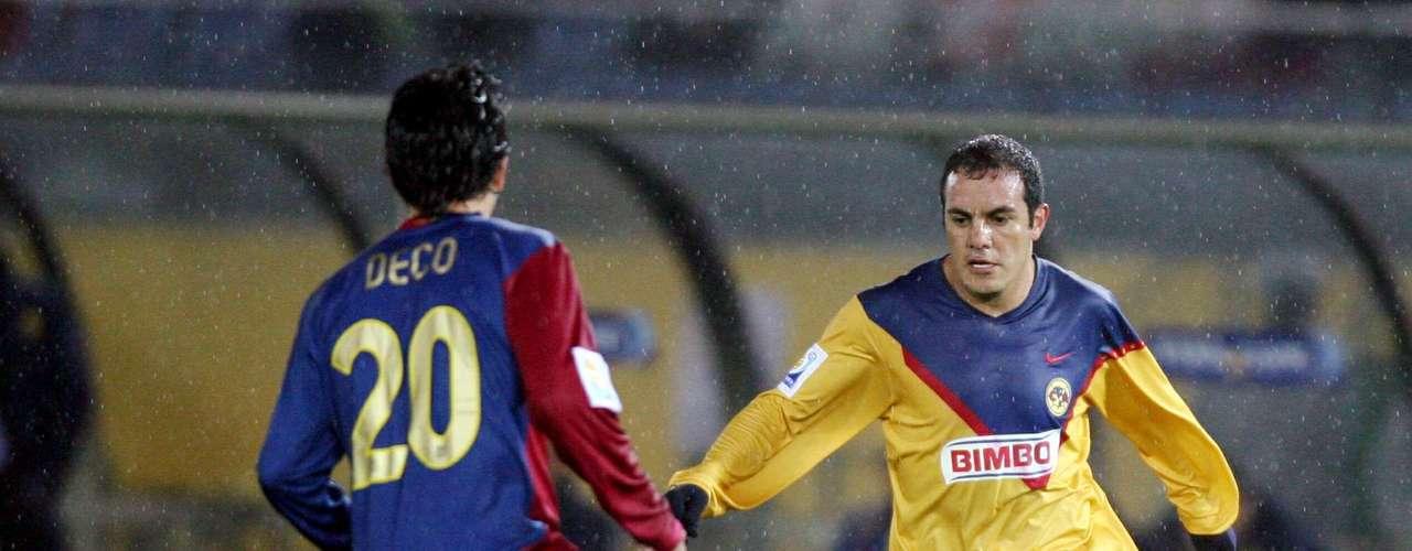 Cuauhtémoc Blanco jugó el Mundial de Clubes con América en el 2006. El equipo quedó en cuarto lugar.