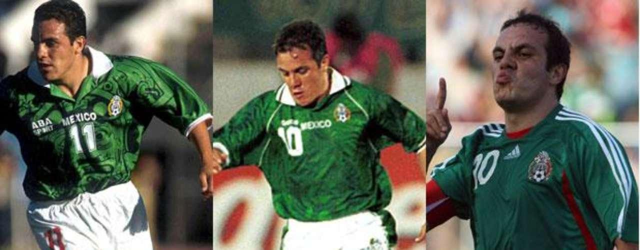 Cuauhtémoc Blanco jugó la Copa América de Bolivia 1997, Paraguay 1999 y Venezuela 2007. En todas las competencias, México quedó en tercer lugar.