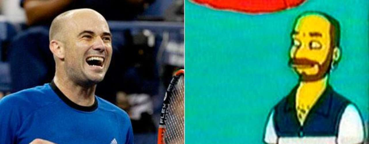 Andre Agassi, apareció en The Simpsons, en un partido donde jugó con Pete Sampras y las Hermanas Williams