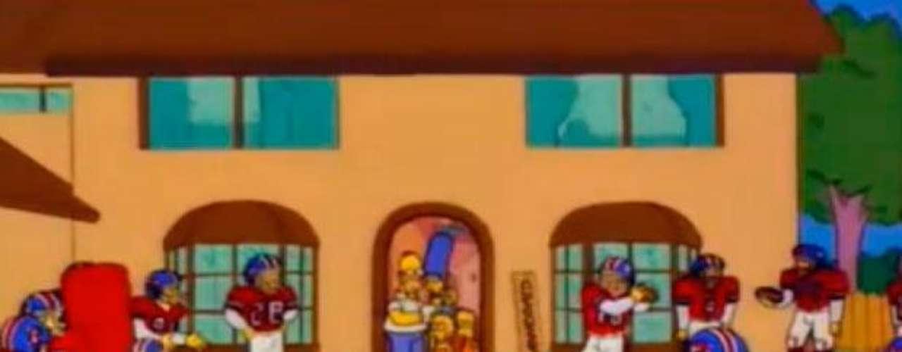 Como olvidar cuando Homero Simpson recibió como regalo al equipo de la NFL, los Broncos de Denver