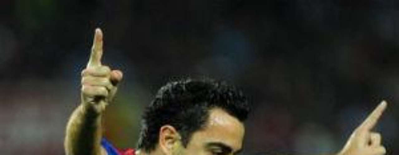 Xavi Hernández incrementó el tanteador  para el cuadro culé y éste así pudo controlar la reacción del Sevilla.