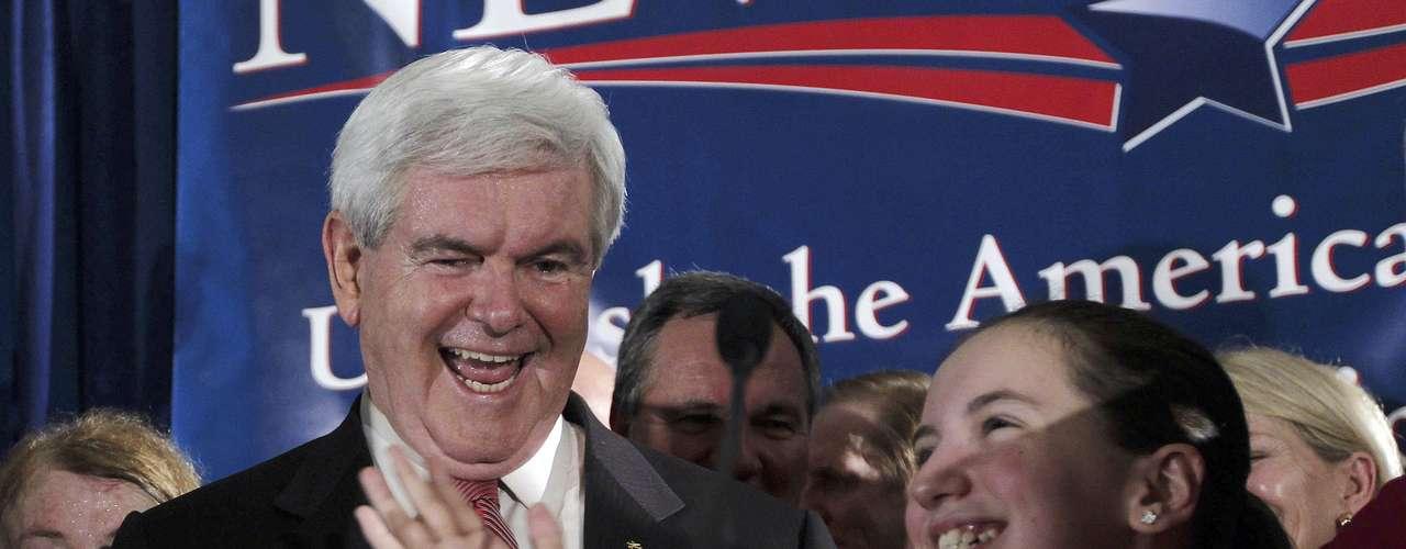Carolina del Sur: Gingrich ganó con 40%, seguido por Romney con 28% y Santorum 21%.