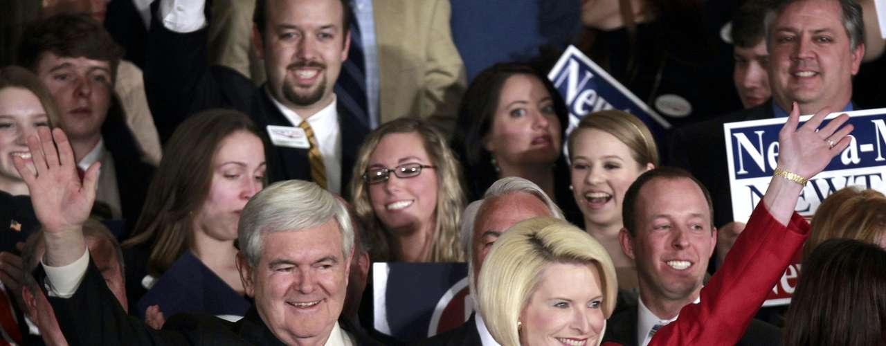 Georgia: Gingrich ganó con el 47% de los votos, Romney consiguió el  26% y Santorum el 20%.