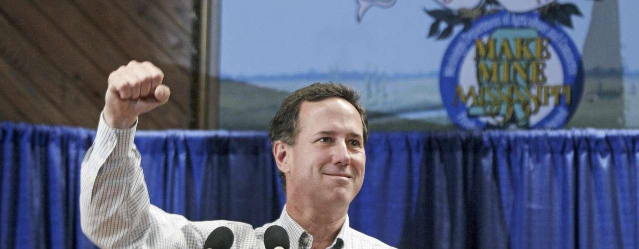 Mississippi: Santorum ganó con 33% de los votos, Gingrich quedó en segundo lugar con el 31%, Romney consiguió un 30% y Paul 4%