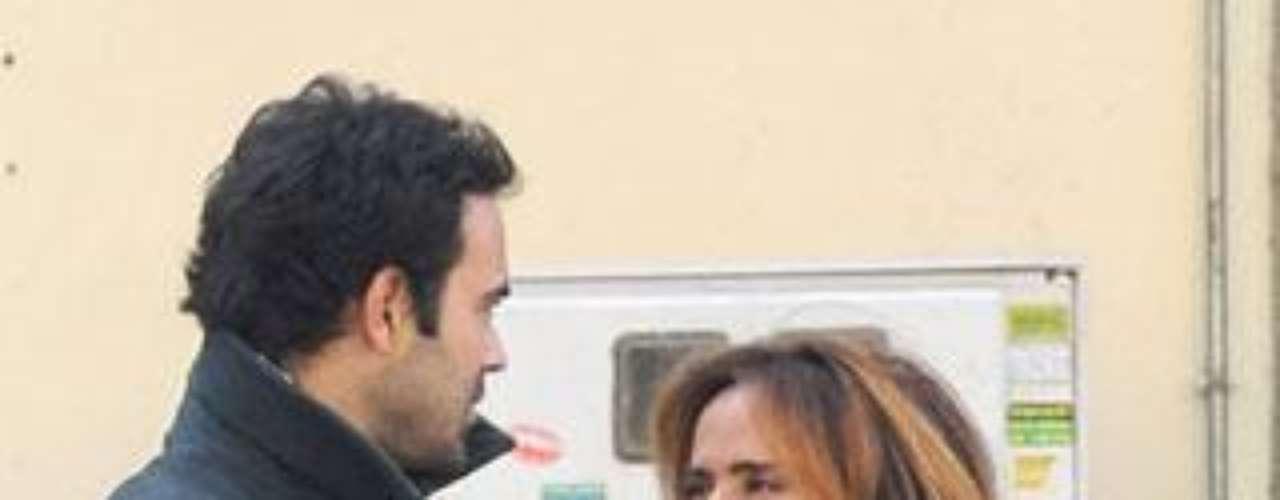 María Patiño con su novio