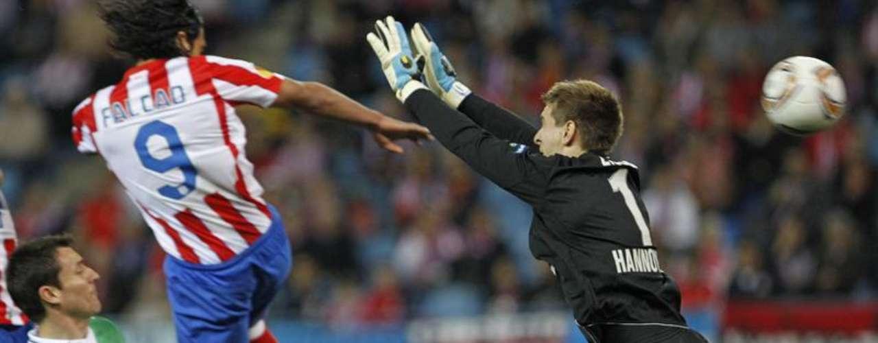 Marcó ante el Hannover 96 en el Vicente Calderón por la ida en los cuartos de final de la reciente edición.
