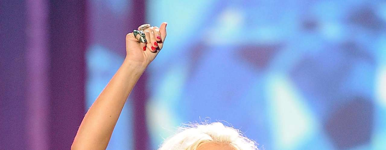 Asi lucía hace algunos meses Christina Aguilera.