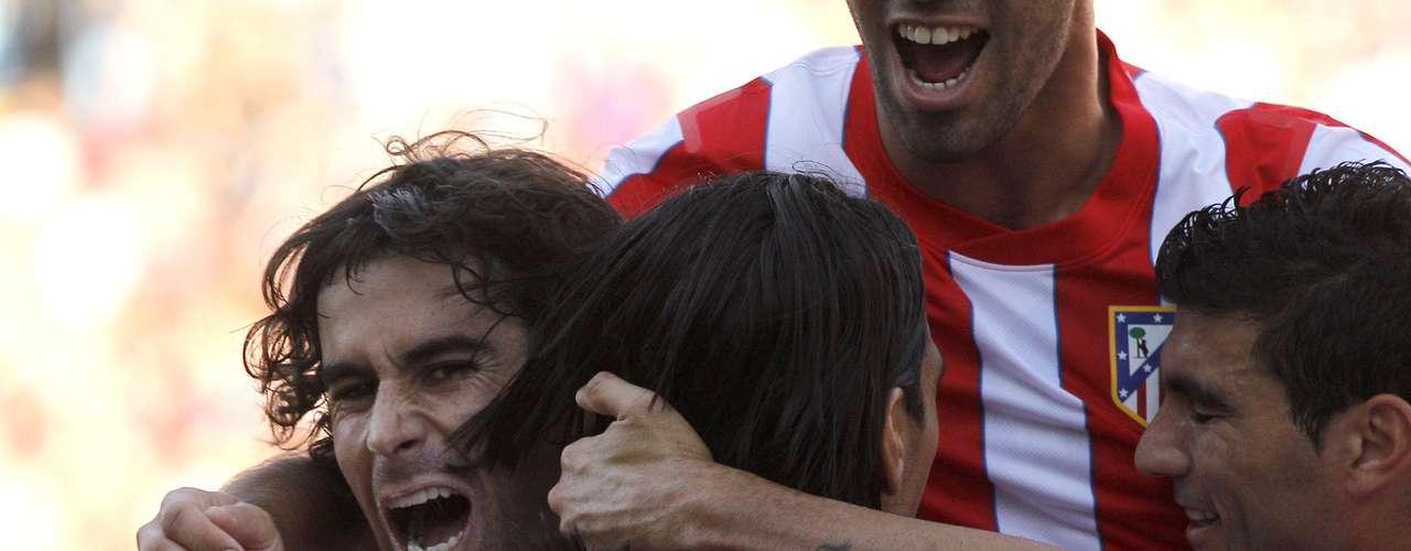Estoy muy agradecido a todos mis compañeros porque sin su ayuda no podría haber hecho estos tres goles: Fue la conclusión de Falcao tras la victoria 4-0 sobre Racing de Santander.