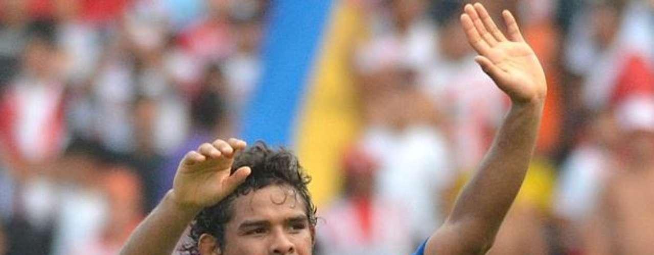 Así celebró Humberto Osorio Botello su séptimo gol con Millonarios, cuando vencieron a Junior en Barranquilla.