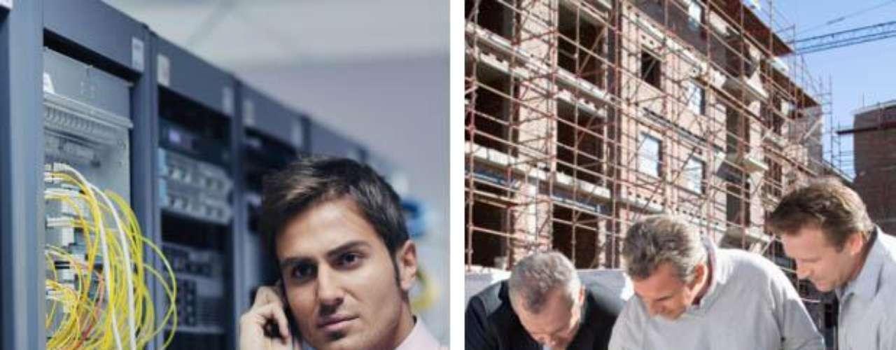 En la décima y novena ubicación, empatados con igual puntaje, se ubicaron: Jefe de construcción e Ingeniero en Sistemas.