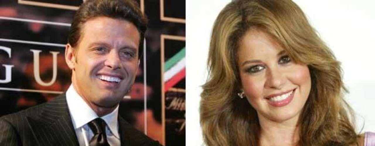 Myrka Dellanos y Luis Miguel se conocieron cuando ella lo entrevistó para la cadena Univision. Pasaron dos años juntos y hubo varios rumores de boda, pero la sorpresa fue otra. En vez de llevarla al altar, Luismi la dejó y a los pocos meses apareció radiante junto a Aracely Arámbula.