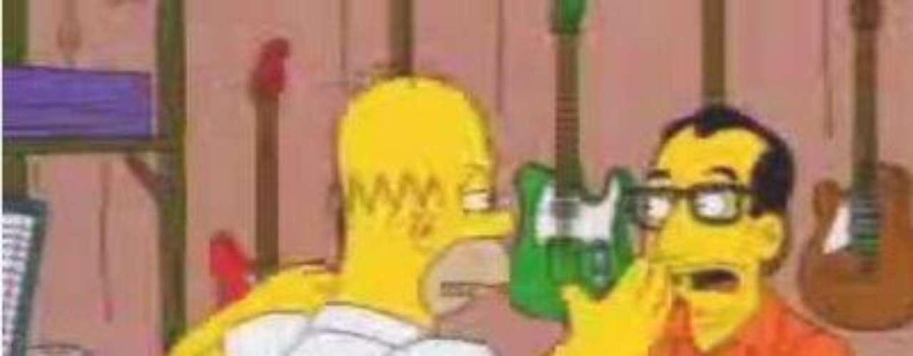 Elvis Costello se desesperó por la actitud de 'Homero' en el campamento de rock.