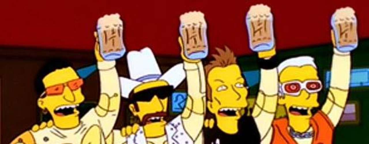 U2 presentó su gira en la ciudad de Springfield en el episodio 'Basura de Titanes'.