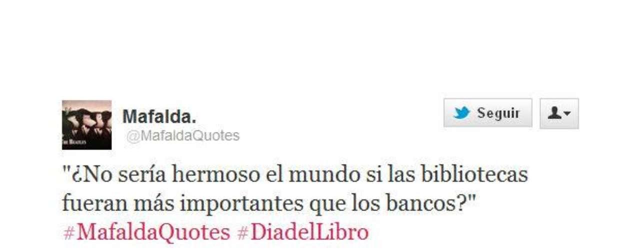 La Mafalda de Quino opina acerca de la prioridad que debería tener la lectura.