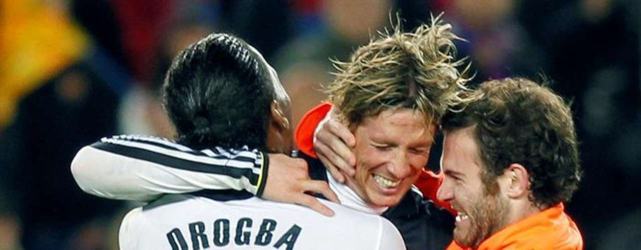 Fernando 'El 'Niño' Torres anotó el gol del empate (2-2) para el Chelsea. Ingresó en los minutos finales por Drogba.