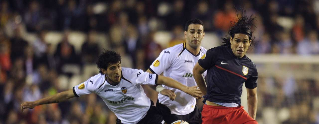 Falcao jugará su segunda final consecutiva de la Liga de Europa, esta vez con el Atlético de Madrid,  que logró el pase tras vencer al Valencia en Mestalla (0-1) y por un marcador global favorable de 5-2.