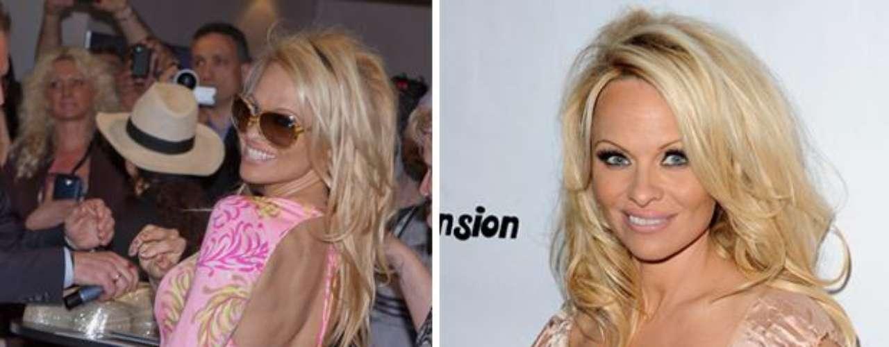 La playboy Pamela Anderson tiene tatuado un camino hasta su trasero.