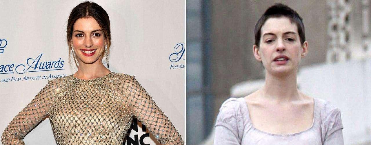 Se han hecho varios comentarios ante la pérdida de peso y el cabello de Anne Hathaway, quien tuvo que adelgazar 7 kilos en tiempo récord para transformarse en la prostituta 'Fantine' de la cinta.