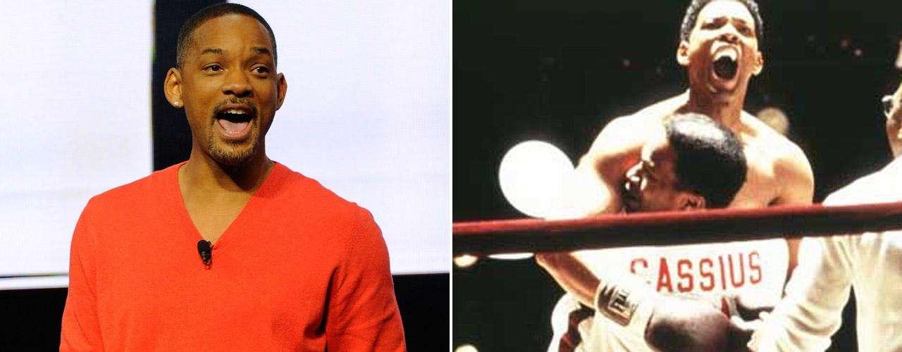 Will Smith tuvo la complicada misión de pasar de un peso de 80 kilos a 105 kilos para poder lucir como el boxeador Muhammad Alí. También lució una trabajada musculatura en el filme 'Yo, Robot' (2004).