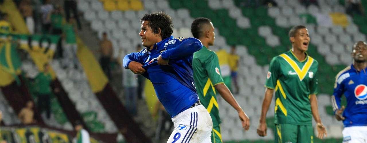 Millonarios empató a dos goles con Quindío en Armenia, en partido válido por la fecha 15 de la Liga Postobón, con goles de Osorio Botello y Erick Moreno.