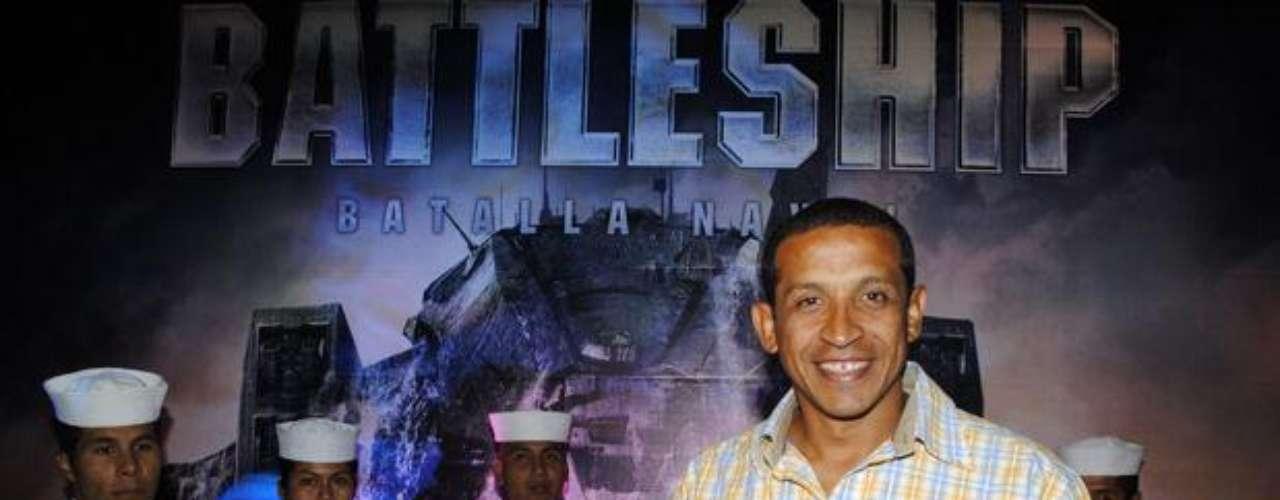 """Jorge """"Camello"""" Soto, ex futbolista, en el Avant Premiere de """"Battleship""""."""