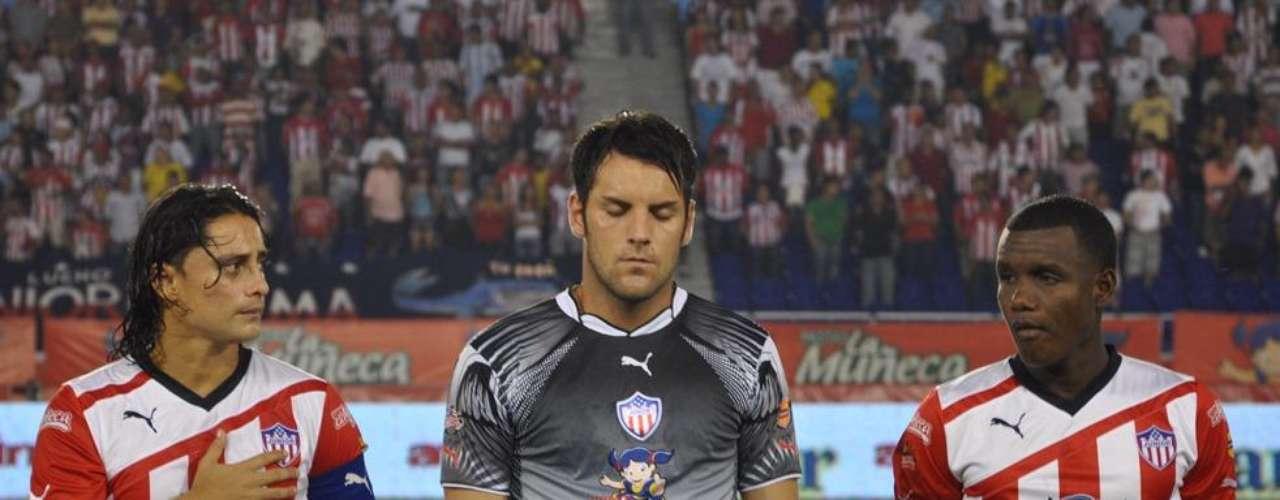 Sebastián Viera, arquero uruguayo campeón con el Junior de Barranquilla.