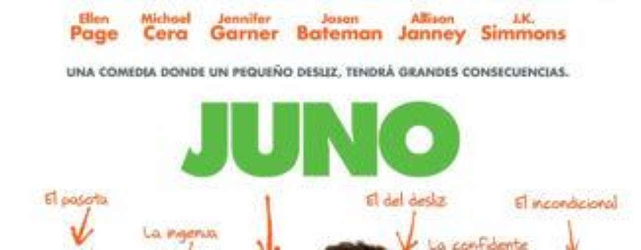 """""""Juno"""" (2007). Una chica de 16 años queda embarazada que decide tener a su hijo y afrontar todo lo que implica esto. Con la actuación de Ellen Page."""