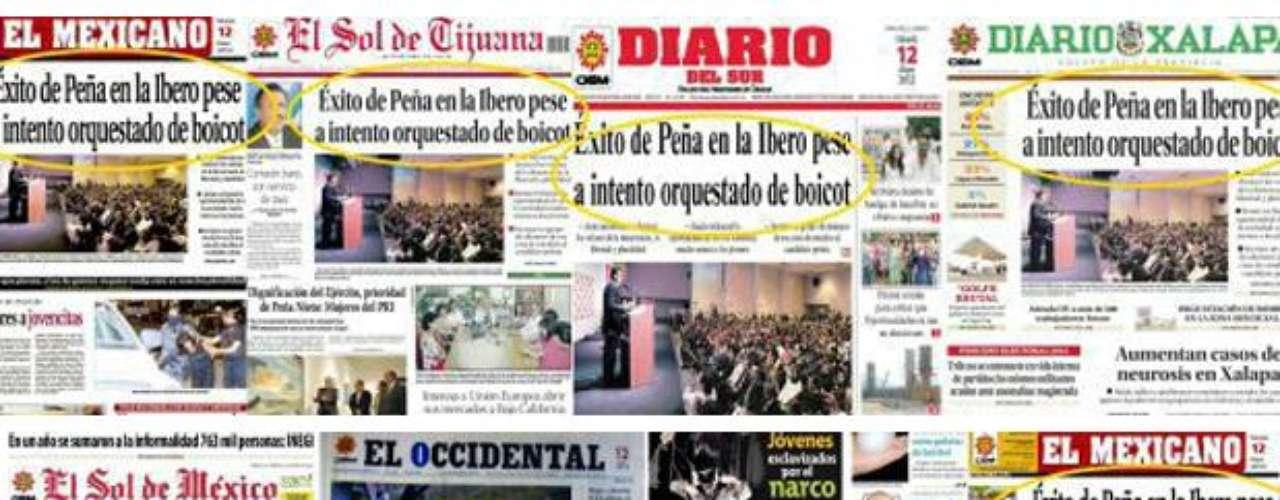 Los tuiteros criticaron con fuerza al Presidente de la OEM, Mario Vázquez Raña, por la visión editorial a favor del candidato, Enrique Peña Nieto