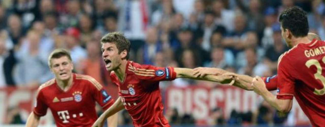 Fue hasta el minuto 83 cuando el Bayern se fue adelante en el marcador con un remate de cabeza de Thomas Muller.