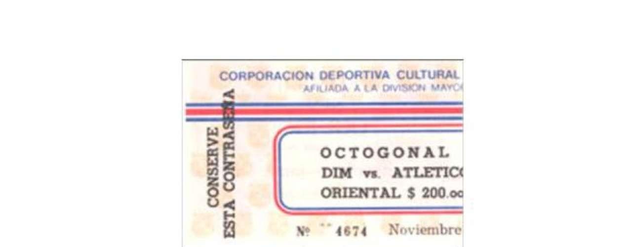 Así eran las boletas que patrocinaba el capo para los partidos de Medellín y Atlético Nacional, todas patrocinadas por el programa Medellín sin Tugurios