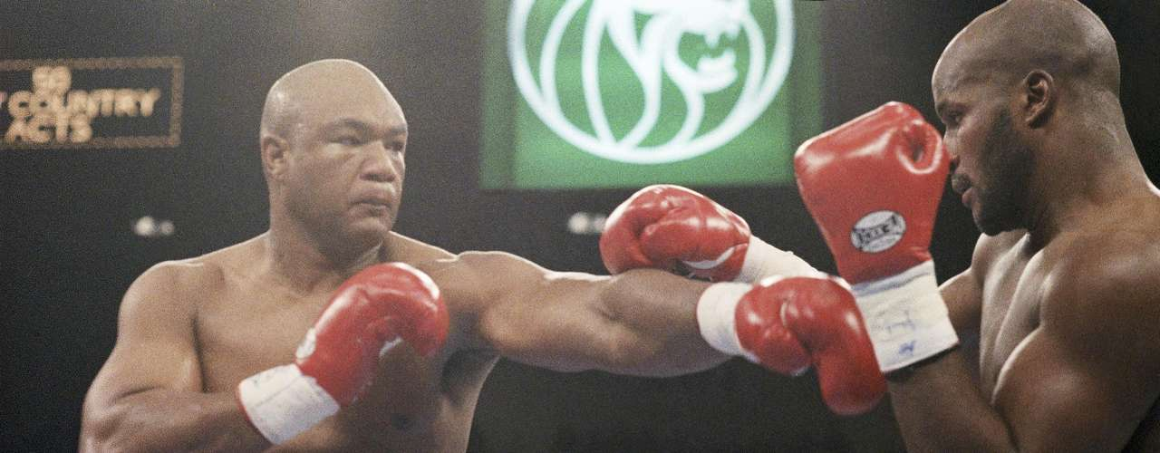 George Foreman vs Michael Moorer (1994): Way past his prime, 21 years after winning his first heavyweight title,  46-years old George Foreman defeated Michael Moorer with a 10th round knockout. The legend had been beaten around for the first nine rounds before landing the right hand punch that would bring down Moorer.