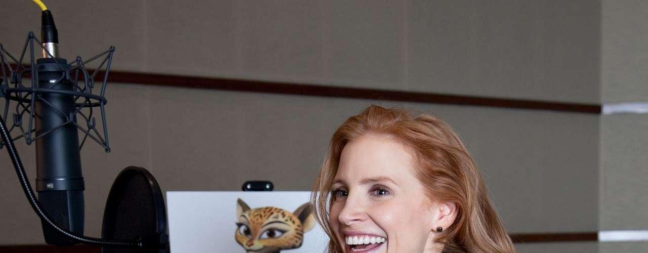 'Madagascar 3' se posiciona como número uno en las taquillas de los EE.UU y otros países. Estos son los actores que prestan sus voces a los personajes animados que hacen parte de la divertida cinta que llega de nuevo a las salas de cine. Jessica Chanstain como Gia.