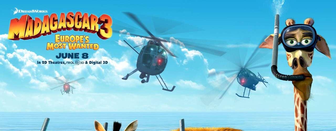 'Madagascar 3' se posiciona como número uno en las taquillas de los EE.UU y otros países. Estos son los actores que prestan sus voces a los personajes animados que hacen parte de la divertida cinta que llega de nuevo a las salas de cine.  Imagen de colección.