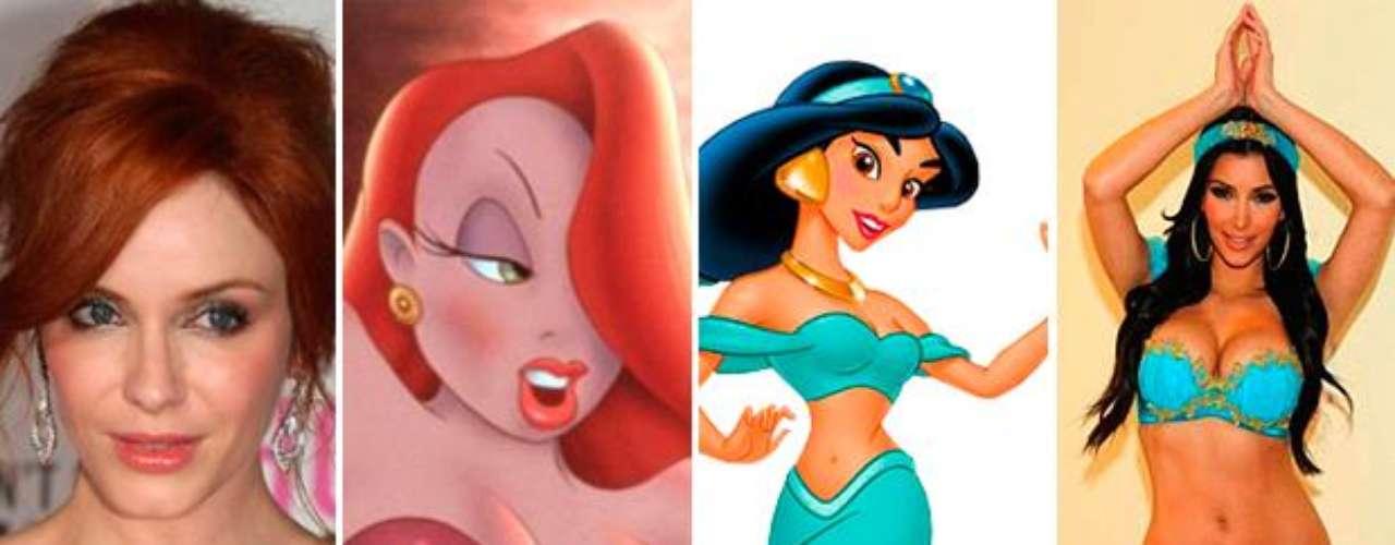 Algunas celebrities se parecen a personajes de caricatura. Mirá las fotos y descubrí las divertidas comparaciones.