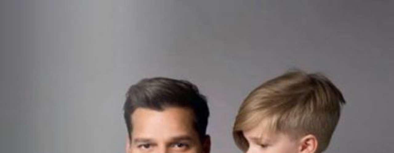 Ricky Martin con sus gemelos Mateo  y Valentino, listos para celebrar el Día del Padre.
