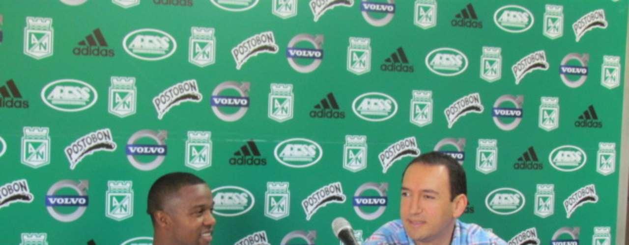 En rueda de prensa el jugador agradeció a todo el entorno de Atlético Nacional por todo el apoyo que recibió.